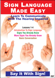 Sign Language Series Lessons 1-4: Introduction to Sign Language, Signs You Know, Basic Conversation DVD  -
