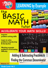 Basic Math Tutor: Adding & Subtracting Fractions & Finding Common Denominator DVD  -