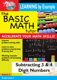 Basic Math Tutor: Subtracting 3 & 4 Digit Numbers DVD  -