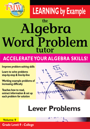 Algebra Word Problem: Lever Problems DVD  -