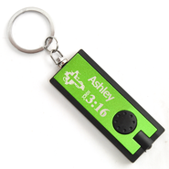 Personalized, Green Flashlight, Believe, John 3:16   -