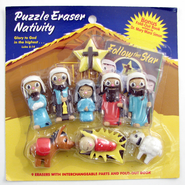 Follow the Star Puzzle Eraser Nativity Set  -              By: Mary Manz Simon