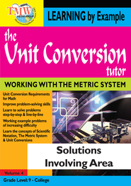 Unit Conversion Tutor: Solutions Involving Area DVD  -