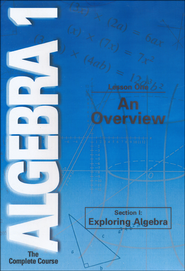 Algebra 1 - The Complete Course: An Overview DVD  -