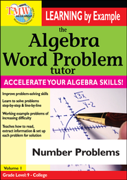 Algebra Word Problem: Number Problems DVD  -