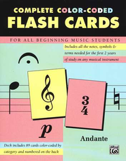 Flash Cards for the Beginning Music Student   -