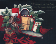 Thanks Be to God Christmas Cards, Box of 18  -              By: Susan Winget