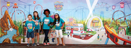 Colossal Coaster World Super Duper Sized Backdrop  -