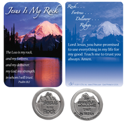 Jesus is my Rock Pocket Piece and Card  -