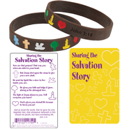 Salvation Story Silicone Bracelet with Card, Spanish  -