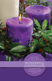 Wonderful Counselor (Isaiah 9:6) Advent Bulletins, 100  -