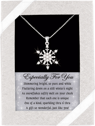 Snowflake Necklace  -