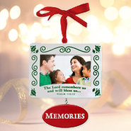 Christmas Photo Frame Ornament; Memories   -