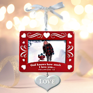 Christmas Photo Frame Ornament; Love   -