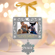 Christmas Photo Frame Ornament; Peace   -