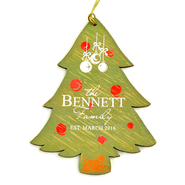 Personalized, Family Christmas Tree Ornament   -
