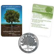 Mustard Seed Pocket Piece and Card  -