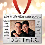 Together Photo Ornament Frame  -