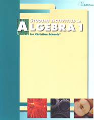 BJU Math 9: Algebra 1 Student Activities    -