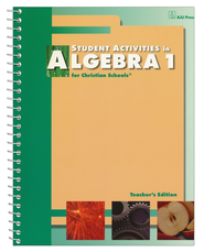 BJU Algebra 1 Student Activities Teacher's Edition Grade 9  -