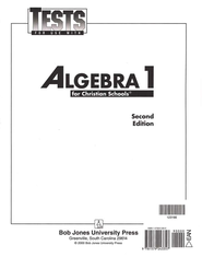BJU Math 9: Algebra 1, Tests   -
