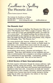 The Phonetic Zoo: Level A Audio CDs   -
