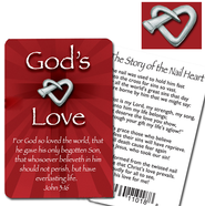 God's Love Lapel Pin and Card  -