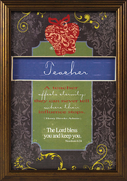 A Teacher Affects Eternity Framed Print  -
