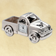 Pickup Truck Desk Clock, Isaiah 40:31  -