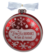 From His Abundance--Glass Ornament   -