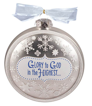Glory to God in the Highest Glass Ornament  -