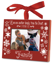 Family Photo Frame Ornament  -
