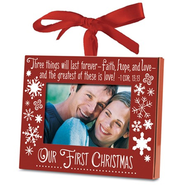 Our First Christmas Photo Frame Ornament  -