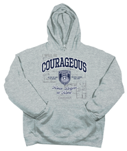 Courageous Hoodie, Gray, Large  -
