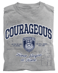 Courageous Shield, Joshua 24:15 Shirt, Gray, 4X Large  -