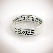 Peace, Saved Ambigram Ring, Size, 8  -