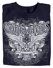Courageous Wings Shirt, Joshua 24:15 Shirt, Navy, Medium  -
