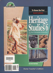 BJU Heritage Studies 6, Home Teacher's Edition    -