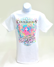 Courageous Ladies Shirt, White, Extra Large  -