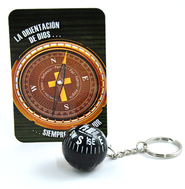 God's Direction Is Always Best Compass Key Chain and Reminder Card, Spanish  -
