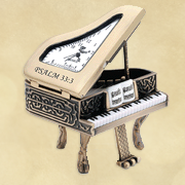 Grand Piano Desk Clock, Psalm 33:3  -