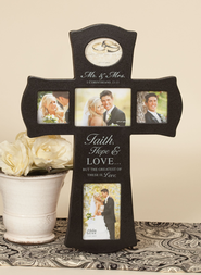 Faith Hope Love Photo Cross  -