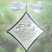 Hark The Harold Angels Sing Christmas Carol Silver Ornament  -