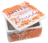 Sisters Are Forever Friends Trinket Box  -