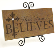This Family Believes, Framed Stone Plaque   -