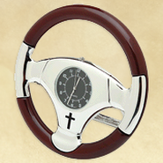 Steering Wheel Desk Clock  -