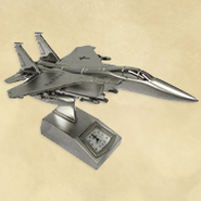 Fighter Jet Desk Clock, Psalm 118:6-7  -