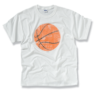 The Word In Basketball Tee Shirt, X-Large (46-48)  -