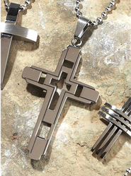 Geometric Cross Pendant  -