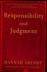 Responsibility and Judgment - eBook  -     By: Hannah Arendt